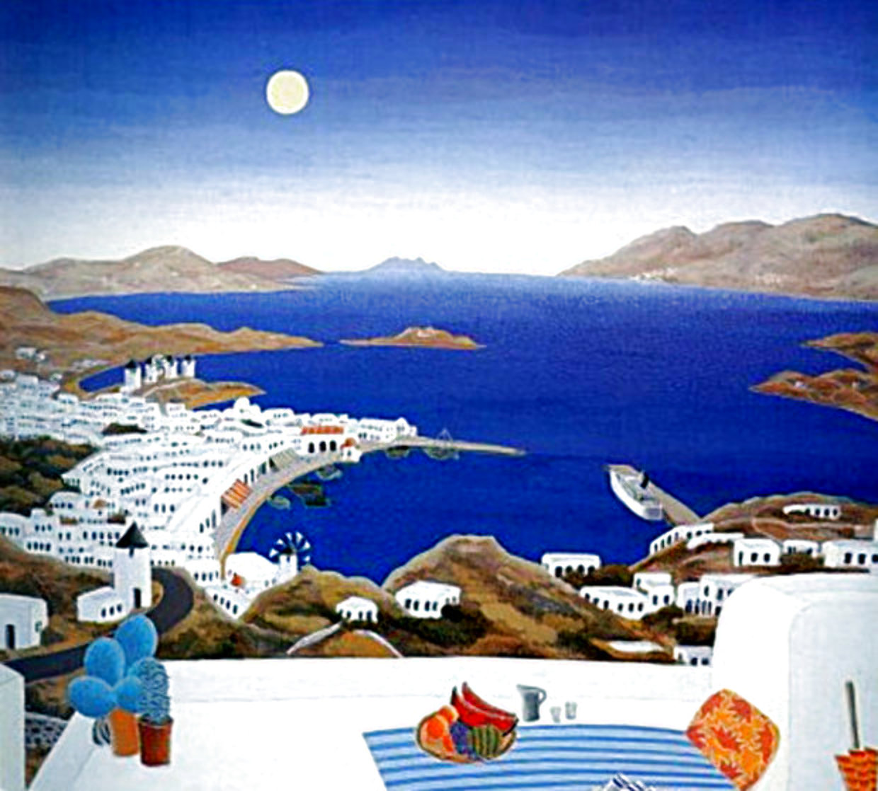 Mykonos Rooftops 1982 Super Huge Limited Edition Print by Thomas Frederick McKnight