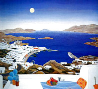 Mykonos Rooftops 1982 Super Huge Limited Edition Print by Thomas Frederick McKnight - 0