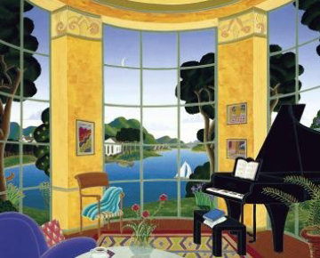 Yellow Music Room Limited Edition Print by Thomas Frederick McKnight
