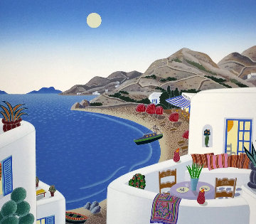 Return to Mykonos Suite of 8 1990 Limited Edition Print by Thomas Frederick McKnight