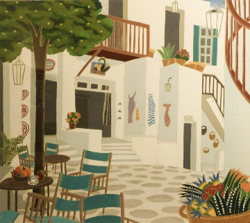 Mykonos Street AP 1984 Limited Edition Print - Thomas Frederick McKnight