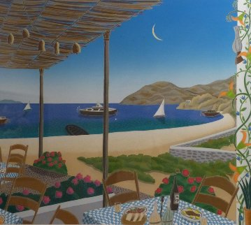 Elia Beach, Mykonos AP 1984 Limited Edition Print - Thomas Frederick McKnight