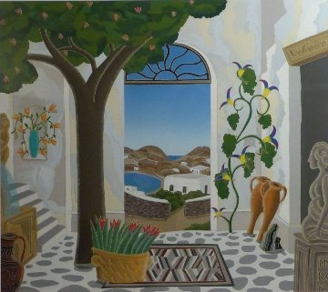 Ano Mera, Mykonos AP 1984 Limited Edition Print - Thomas Frederick McKnight