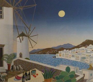Mykonos Windmills AP 1984 Limited Edition Print by Thomas Frederick McKnight