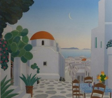 Mykonos Chapel AP 1984 Limited Edition Print - Thomas Frederick McKnight