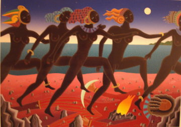 Running Nubians Limited Edition Print by Thomas Frederick McKnight