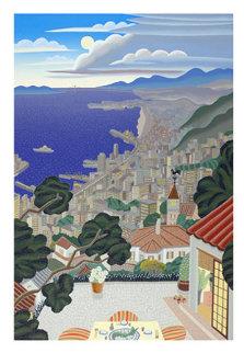 Kobe Coast At Night 1992 39x28 Super Huge Limited Edition Print - Thomas Frederick McKnight