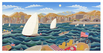 San Diego America's Cup 1992 Super Huge 27x50 Super Huge  Limited Edition Print - Thomas Frederick McKnight