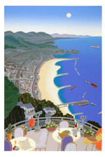 Kobe Coast with Beach 1992 39x28 Super Huge Limited Edition Print - Thomas Frederick McKnight