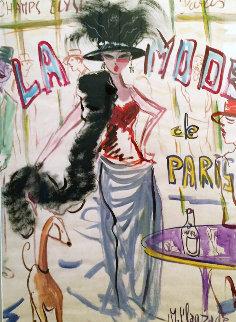 La Mode 27x19 Original Painting by Marc Clauzade
