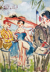 Les Courses Paris Auteli 22x28 Original Painting - Marc Clauzade