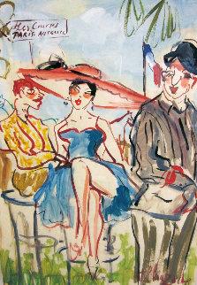 Les Courses Paris Auteli 22x28 Original Painting by Marc Clauzade