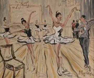 Ballet Fantaisie 2015 39x43 Original Painting - Marc Clauzade