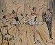Ballet Fantaisie 2015 39x43 Original Painting - Marc Clauzade