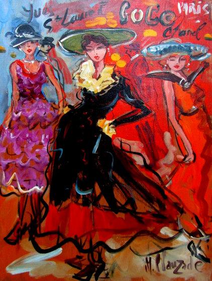 Yves St. Laurent 2009 34x27 Original Painting by Marc Clauzade