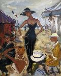 Trouville 2002 Original Painting - Marc Clauzade