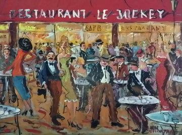 6 Jockey 2005 31x39 Original Painting by Marc Clauzade