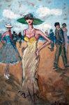 Robe Jaune a La Plage 2006 54x40 Works on Paper (not prints) - Marc Clauzade