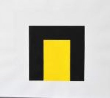 Untitled (Study for Yellow Light Arch) 2000 Original Painting - Mary Corse