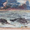 Untitled Seascape 1940 6x8 Original Painting by Joshua Meador - 3
