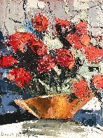 Red Roses 10x8 Original Painting by Joshua Meador - 0