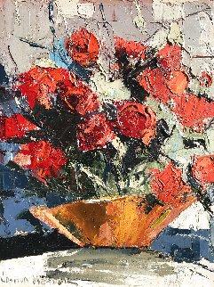 Red Roses 10x8 Original Painting - Joshua Meador