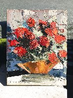 Red Roses 10x8 Original Painting by Joshua Meador - 1