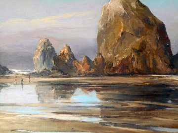 Cannon Beach, Oregon #766 29x36 Original Painting by Joshua Meador