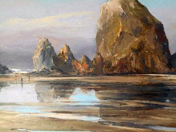 Cannon Beach, Oregon #766 29x36 Original Painting by Joshua Meador