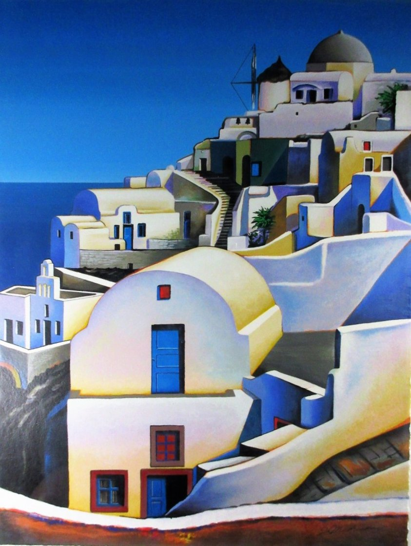 Oia on Santorini 2001 Limited Edition Print by Igor Medvedev