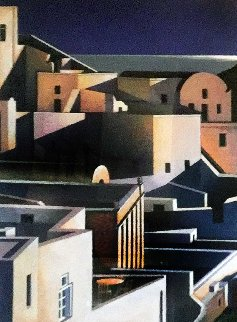 Grand View of Santorini 1998 Limited Edition Print by Igor Medvedev