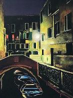 Magic of the Night, Venice 2012 48x38 Super Huge Original Painting by Igor Medvedev - 0