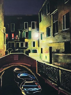 Magic of the Night, Venice 2012 48x38 Huge Original Painting - Igor Medvedev