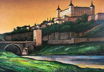 El Alcazar 2000 26x38 Original Painting by Igor Medvedev