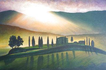 Tuscany Aglow 2004 43x66  Huge Original Painting - Igor Medvedev
