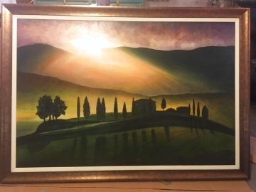 Tuscany Aglow 2004 43x66 Super Huge Original Painting - Igor Medvedev