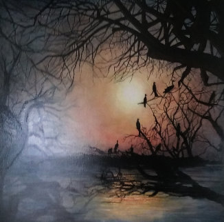 Summer Night Dream 2009 36x36 Original Painting - Igor Medvedev