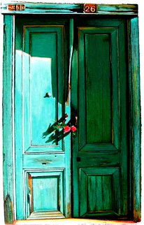 Miniature #26 Green Door 1996 Limited Edition Print - Igor Medvedev