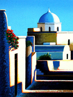 Village on Santorini 1998 Limited Edition Print - Igor Medvedev