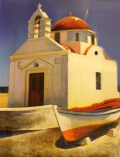 Sunny Side 1998 44x36 Huge Original Painting - Igor Medvedev
