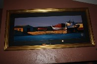 Harbor Sunset 1998 Super Huge Limited Edition Print by Igor Medvedev - 5