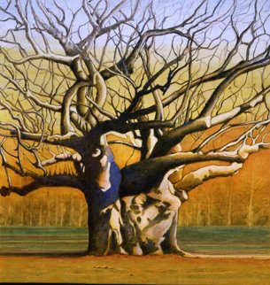 Laced Branches 2008 43x41 Original Painting by Igor Medvedev