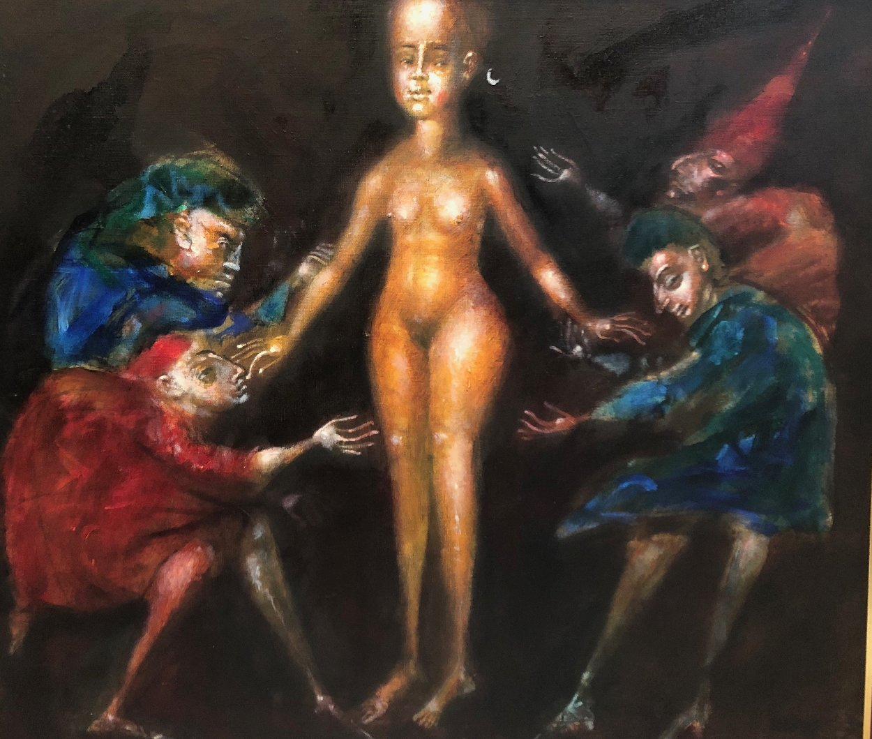 Naked # 7 1994 40x38 Original Painting by Andrei Medvedev
