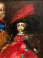 Double Portrait 1995 42x33 Super Huge Original Painting by Andrei Medvedev - 3