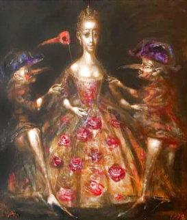 Untitled 1999 44x40  Huge Original Painting - Andrei Medvedev