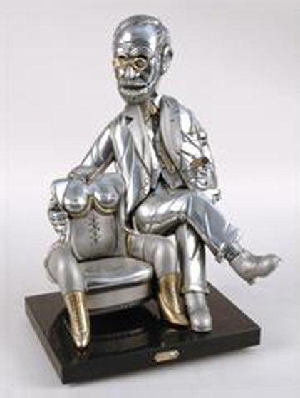 Sigmond Freud Bronze Sculpture 19 in Sculpture by Frank Meisler