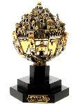 Thatcher Jerusalem Sphere Sterling Sculpture 1980 (Small) 9 in Sculpture - Frank Meisler