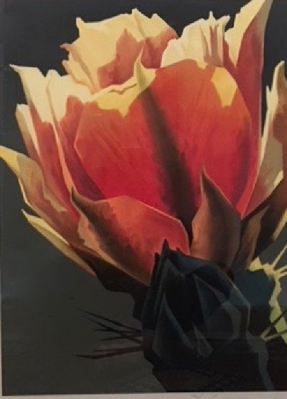 La Flor Rojo Limited Edition Print by Ed Mell