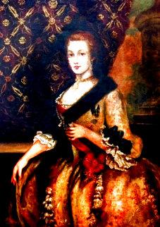 Untitled Portrait of a Woman 50x40 Original Painting - Diana Mendoza