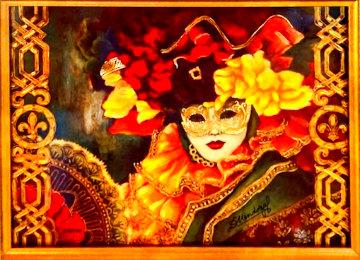 Dama De Abanico 2018 Embellished Limited Edition Print - Diana Mendoza